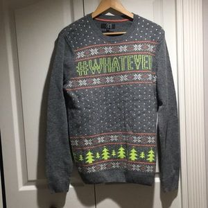 LE31 'whatever' jacquard lambswool men's sweater M